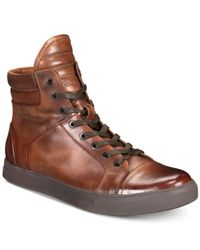 Kenneth Cole Reaction - Brown Double Header High-top Sneakers for Men - Lyst