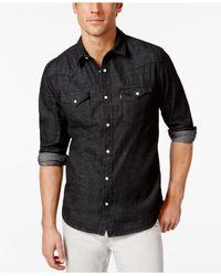 Levi's - Black Standard Barstow Western Long-sleeve Denim Shirt for Men - Lyst