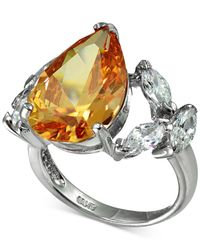 Giani Bernini - Metallic Champagne & Clear Cubic Zironcia Ring In Sterling Silver, - Lyst