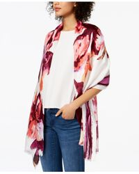 INC International Concepts - Red Inked Iris Wrap, Created For Macy's - Lyst