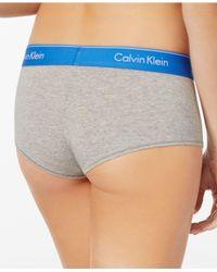 Calvin Klein - Gray Modern Cotton Logo Boyshort F3788 - Lyst