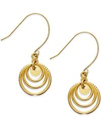 Macy's - Metallic Graduated Circle Drop Earrings In 10k Gold - Lyst