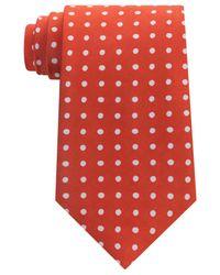 Tommy Hilfiger - Orange Men's Printed Dot Tie for Men - Lyst