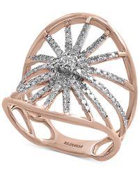 Effy Collection - Metallic Diamond Starburst Ring (5/8 Ct. T.w.) In 14k Rose Gold - Lyst