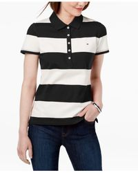 Tommy Hilfiger - Gray Rugby-stripe Polo Shirt - Lyst