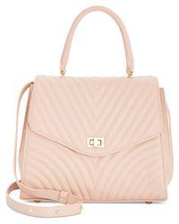 Steve Madden - Pink Coco Flapover Shoulder Bag - Lyst