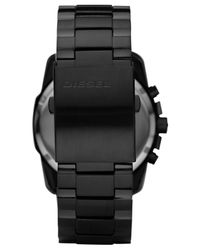 DIESEL - Mens Chronograph Black Ion Plated Stainless Steel Bracelet Watch 49x45mm Dz4180 for Men - Lyst