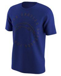 Nike | Blue Color Rush Logo T-shirt for Men | Lyst