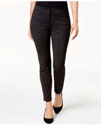 Alfani - Black Houndstooth-print Skinny Pants - Lyst