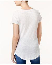 Maison Jules - White Short-sleeve V-neck Tee - Lyst