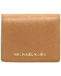 Michael Kors - Multicolor Jet Set Travel Flap Card Holder - Lyst