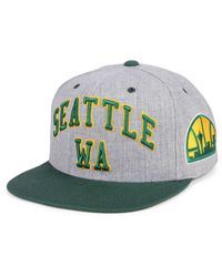Mitchell & Ness - Green Seattle Supersonics Side Panel Cropped Snapback Cap for Men - Lyst