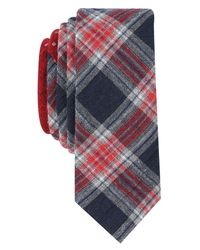 Original Penguin - Blue Men's Mallard Plaid Skinny Tie for Men - Lyst