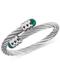Charriol - Metallic Women's Celtic Malachite-accent Stainless Steel Cable Bangle Bracelet 04-01-1165-4 - Lyst