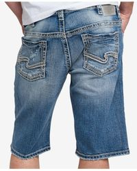Silver Jeans Co. - Blue Men's Gordie Shorts for Men - Lyst