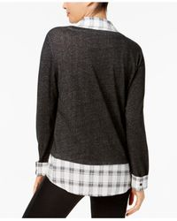 Style & Co. - Black Layered-look Top - Lyst