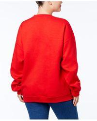 Hybrid - Red Trendy Plus Size Oh Snap! Graphic-print Sweatshirt - Lyst