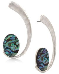 Robert Lee Morris | Metallic Silver-tone Abalone-look Swirl Drop Earrings | Lyst