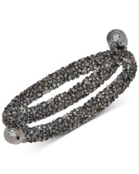 Anne Klein - Metallic Colored Crystal Coil Wrap Bracelet - Lyst