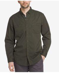 G.H. Bass & Co. - Green Men's Stretch Twill Shirt for Men - Lyst