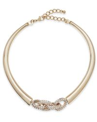 INC International Concepts - Metallic Gold-tone Crystal Link Collar Necklace - Lyst