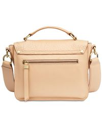 Calvin Klein Natural Wendy Leather Top-handle Crossbody