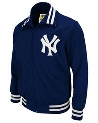 Mitchell & Ness Blue New York Yankees Authentic Full-zip Bp Jacket for men