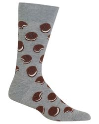 Hot Sox - Gray Men's Sandwich Cookie Socks for Men - Lyst