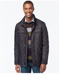 Michael Kors - Black Quilted Filed Coat for Men - Lyst