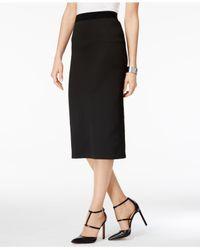 Alfani - Black Petite Midi Pencil Skirt, Created For Macy's - Lyst