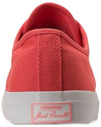 Converse - Red Jack Purcell Jack Ox Casual Sneakers From Finish Line for Men - Lyst