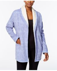 Hue - Blue Illusion Cozy Open-front Robe - Lyst