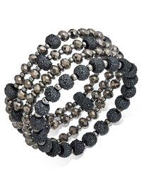 INC International Concepts - Metallic Two-tone 4-pc. Set Beaded Stretch Bracelets - Lyst