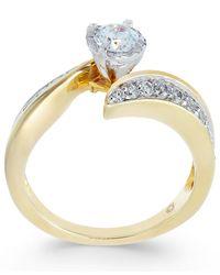 Macy's - Metallic Diamond Swirl Bridal Set (1 Ct. T.w.) In 14k White Gold - Lyst