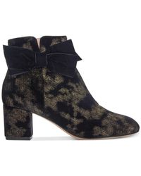 Kate Spade - Black Langley Bow Booties - Lyst