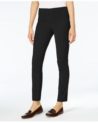 Karen Scott Black Petite Corduroy Pull-on Pants, Created For Macy's