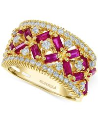Effy Collection - Metallic Ruby (1-3/4 Ct. T.w.) And Diamond (5/8 Ct. T.w.) Ring In 14k Rose Gold - Lyst