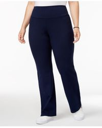 Style & Co. - Blue Plus Size Pants, Tummy-control Straight-leg Trousers - Lyst