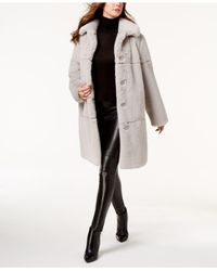Jones New York - Gray Faux-fur Coat - Lyst