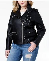 Levi's - Black ® Plus Size Studded Faux-leather Moto Jacket - Lyst