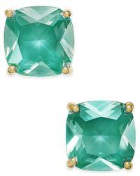 Kate Spade - Green Gold-tone Aqua Crystal Stud Earrings - Lyst