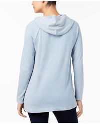 Style & Co. - Blue Cotton Embroidered Hoodie - Lyst
