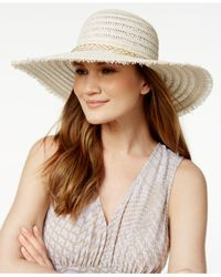 BCBGeneration - Brown Braided Chain Floppy Hat - Lyst
