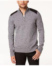 Sean John - Gray Men's Marled Henley Sweater for Men - Lyst