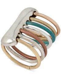 Robert Lee Morris - Metallic Multi-tone Sculptural Multi-band Patina Ring - Lyst