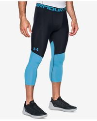 Under Armour | Blue Men's Heatgear® Colorblocked Steph Curry Cropped Compression Leggings for Men | Lyst