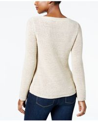 Style & Co. - Natural Boat-neck Sweater - Lyst