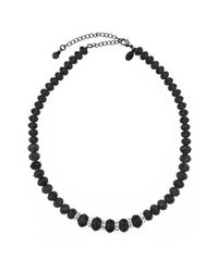 2028 - Black Necklace, Jet Bead Necklace - Lyst