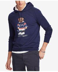 Polo Ralph Lauren - Blue Men's Polo Bear Hockey Hoodie for Men - Lyst
