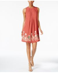 Cable & Gauge - Multicolor Cupio Embroidered Shift Dress - Lyst